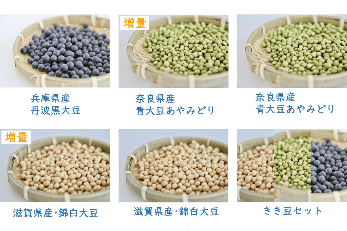 豆乳くらぶ大豆種類一覧